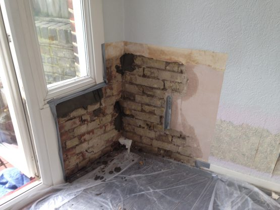 Treating damp in old Fulham